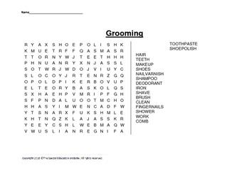 Grooming wordsearch