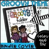 Groovy 60s themed communication binder/folder covers