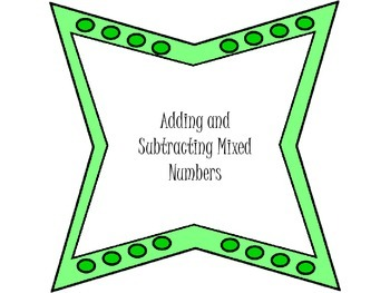 Groovy Adding and Subtracting Mixed Numbers Game