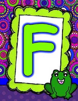 Groovy Alphabet Posters