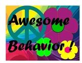 Groovy Behavior Clip Chart - 70's Theme