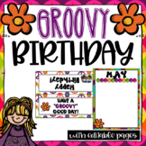 Editable Birthday Set | Groovy Theme | Hippie Theme Decor