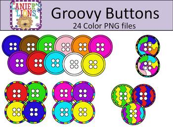 Groovy Buttons {Commercial Use}