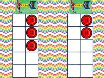 Groovy Buttons Ten Frames