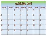 Groovy Calendar 2017-2018