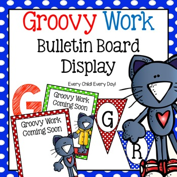 Groovy Cat  Bulletin Board - Showcasing Student Work