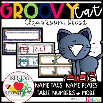 Groovy Cat: Classroom Decor-Editable
