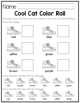 Groovy Cat Color Roll Game