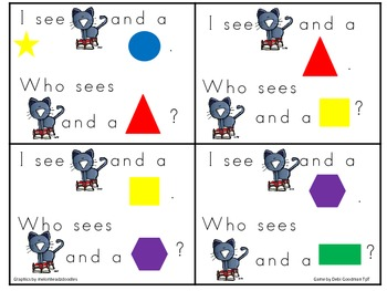 Groovy Cat Color and 2-d Common Core Kindergarten  Shape Game