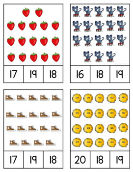 Groovy Cat Counting Clip Cards (1-20)