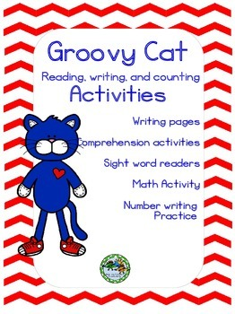 Groovy Cat Reading, Writing, and Math Activities