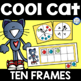 Groovy Cat Ten Frames using Mini Erasers