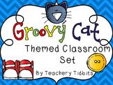Groovy Cat Themed Classroom Set {EDITABLE}
