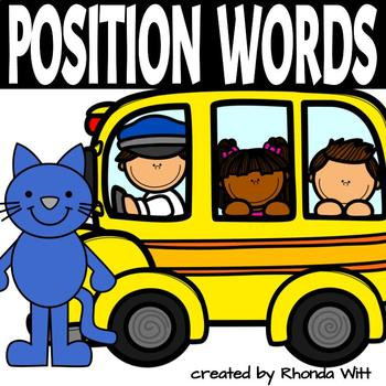 Groovy Cat and his School Bus Positional Words Activity