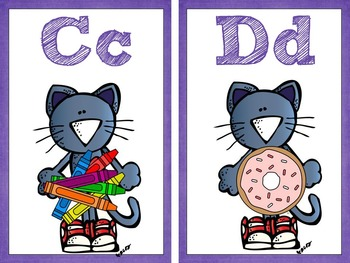 Groovy Cats ABC Wall Cards