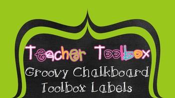 Groovy Chalkboard Toolbox Labels