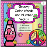 Groovy Color Words and Number Words Printable