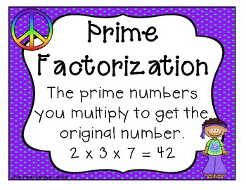 Groovy Factors and Prime Factorization Task Cards