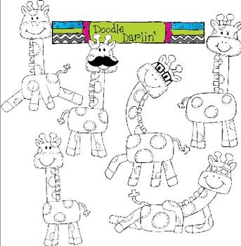 Groovy Giraffe Stamps