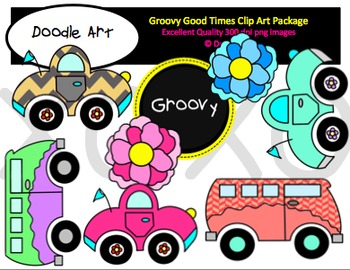 Groovy Good Times Clipart Package