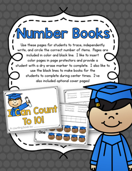 Groovy Graduation Counting Pack 1-10