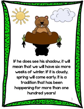 Groundhogs Day and Groundhogs: Reading and Writing Unit