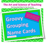 Groovy Grouping Name Cards for Classes Up to 30