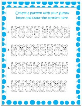 Groovy Gummy Math with Patterns and Graphing