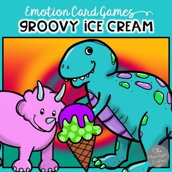 Groovy Ice Cream and Dinosaurs Emotion Cards and Social Em