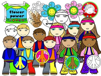 Groovy Kids Clipart (Personal & Commercial Use)