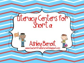 Groovy Literacy Centers with Short A