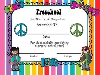 Groovy Peace Themed End of Year Bundle