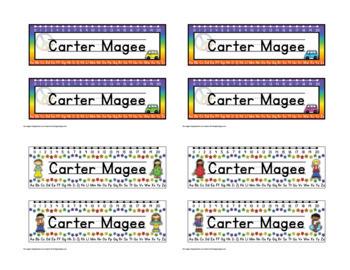 Groovy Peace Themed Nameplate/Deskplate/Nametags