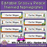 Groovy Peace Themed Nameplate/Deskplate/Nametags