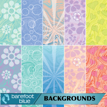 Groovy Retro Backgrounds/Digital Papers