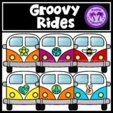 Groovy Rides Clipart {Earth Day}