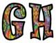 Groovy Sixties Style Bulletin Board Letters