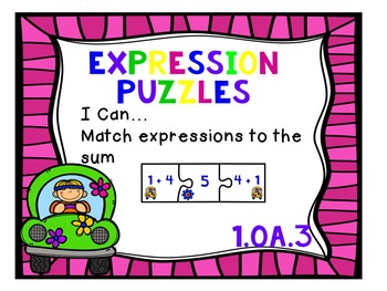 Groovy Sums and Differences to 10: First Grade Math Stations