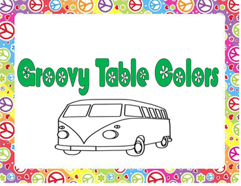 Groovy Table Colors