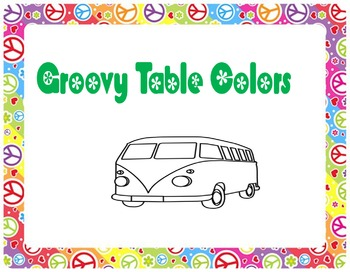 Groovy Table Colors (Adjustable)