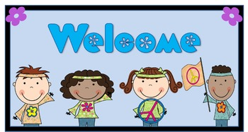 Groovy Welcome Poster (Editable)