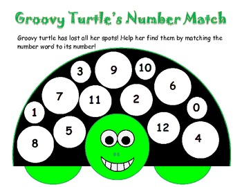 Groovy turtle's number match