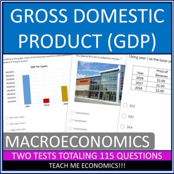 Gross Domestic Product 3 Quizzes/Tests 113 Questions Economics