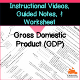 Gross Domestic Product (GDP) Instructional Videos, Guided Notes, and Worksheet