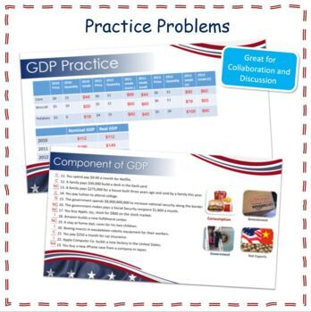 Economics - Gross Domestic Product GDP Power Point