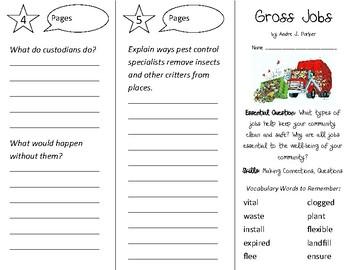 Gross Jobs Trifold - Open Court 2nd Grade Unit 3 Lesson 1