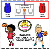 Gross Motor Balling Articulation/ Distance Learning