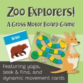 Gross Motor Board Game: Zoo Explorers!