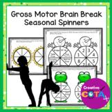 Gross Motor Brain Break  Seasonal Exercise Spinners