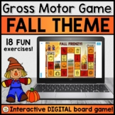 Gross Motor DIGITAL Board Game for Teletherapy (FALL THEME)